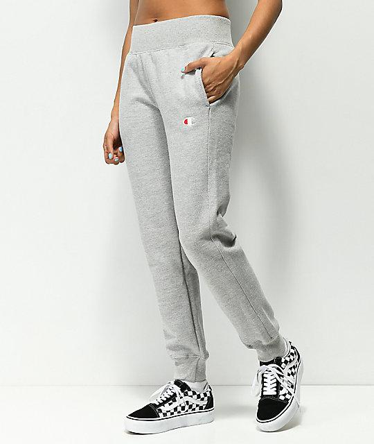 0a6d6af348ab Champion Reverse Weave Oxford Grey Jogger Sweatpants