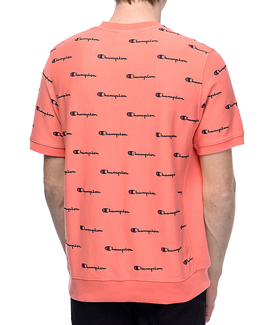 ae2799fcf Champion Reverse Weave Peach French Terry Crew T-Shirt | Zumiez