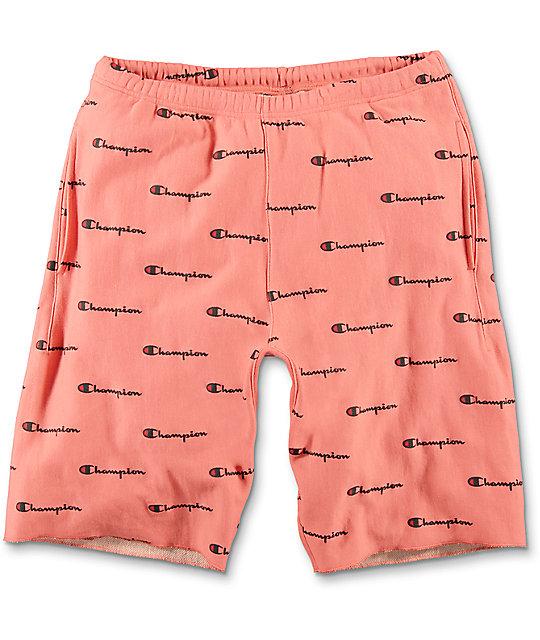 d4c532775f08 Champion Reverse Weave Peach Sweat Shorts