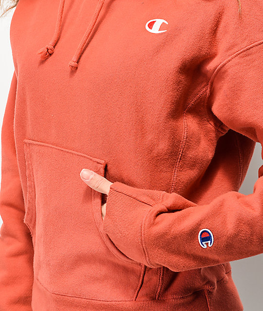 Champion Reverse Weave Picante Pink Hoodie