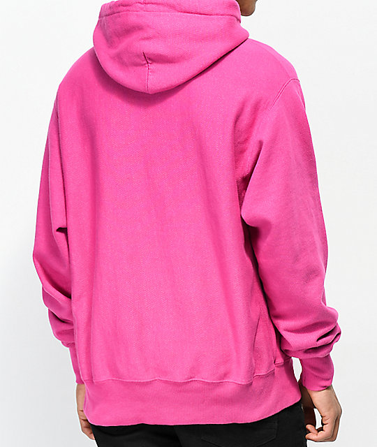 Champion Reverse Weave Pink Pigment Dyed Hoodie