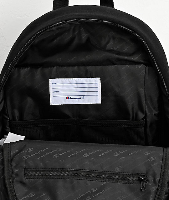 Champion Reverse Weave Pullover Black Mini Backpack