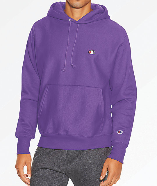 Champion Reverse Weave Purple Hoodie  204f1dc85