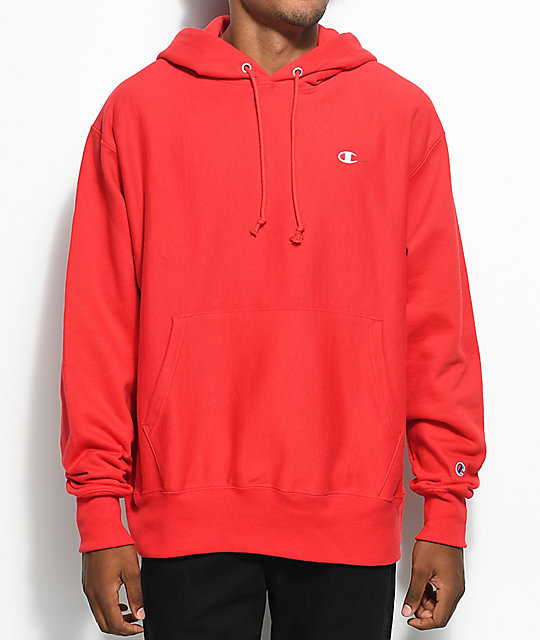 Champion Reverse Weave Red Hoodie