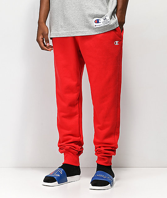 1fb0e2c2c22 Champion Reverse Weave Red Jogger Pants