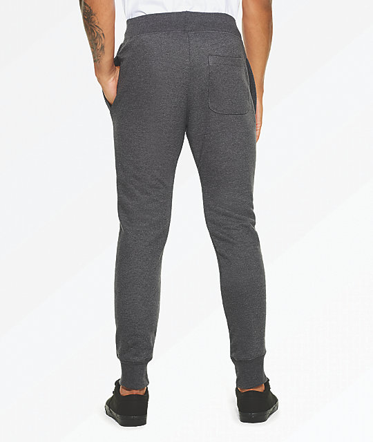 Champion Reverse Weave Small Logo Grey Sweatpants