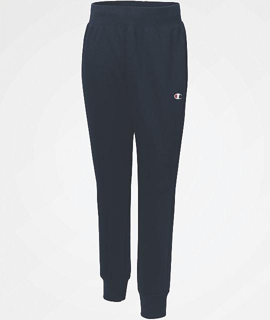 377d23f25 Champion Reverse Weave Small Logo Navy Jogger Pants