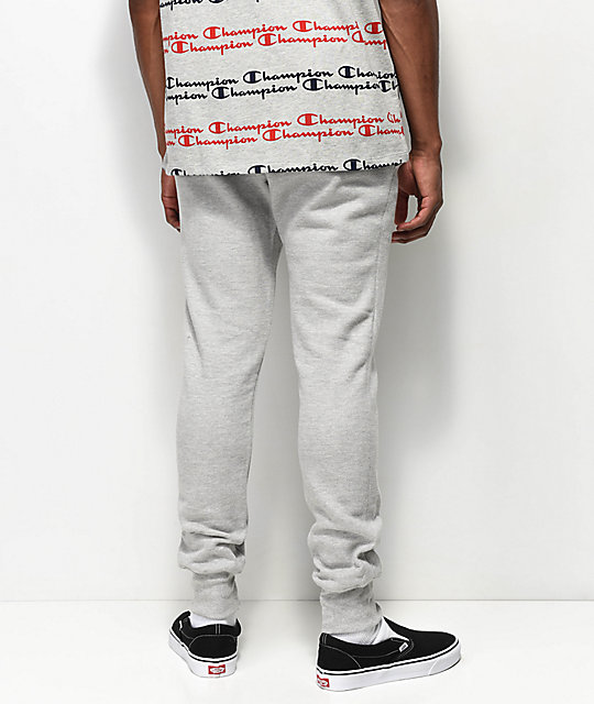 Champion Reverse Weave Small Logo joggers grises
