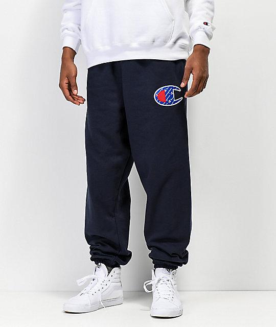 c5a9ff01f1d0 Champion Reverse Weave Sublimated C Logo Navy Jogger Pants