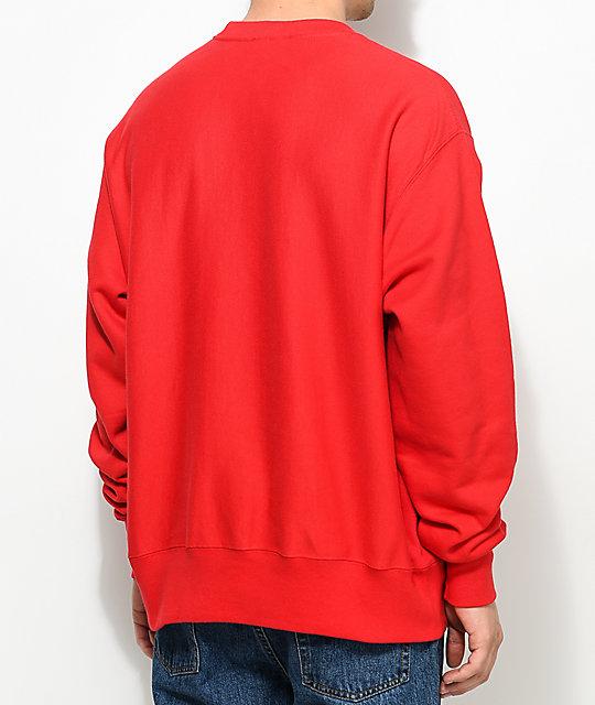 d507fc856a21 ... Champion Reverse Weave Team Red Crew Neck Sweatshirt ...