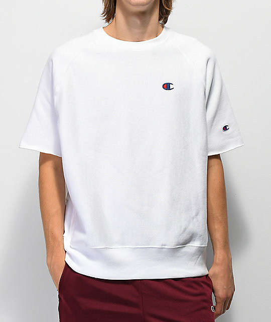 8be31e17 Champion Reverse Weave White Crew Neck T-Shirt | Zumiez