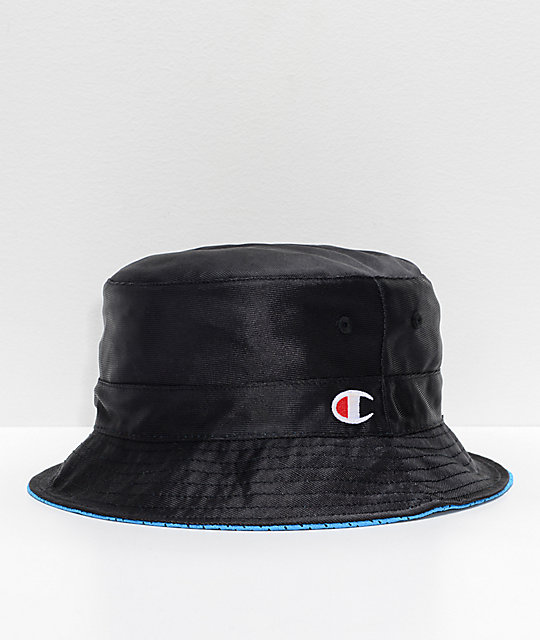 różne style najwyższa jakość urzędnik Champion Reversible Black & Black Bucket Hat