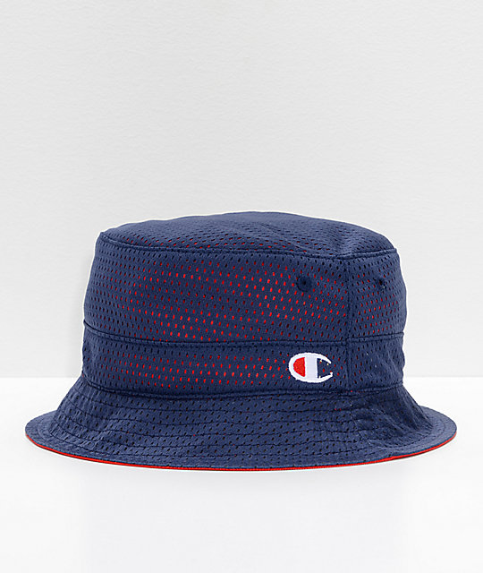 Champion Reversible Red & Navy Bucket Hat