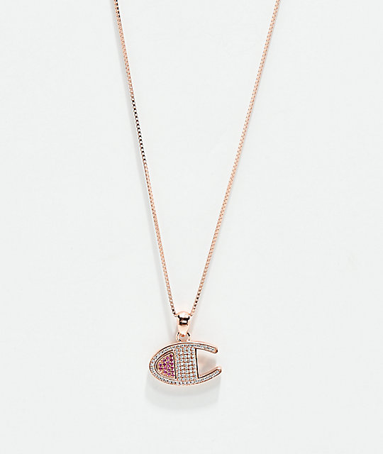 Champion Rose Gold Heritage Pendant Women's Necklace