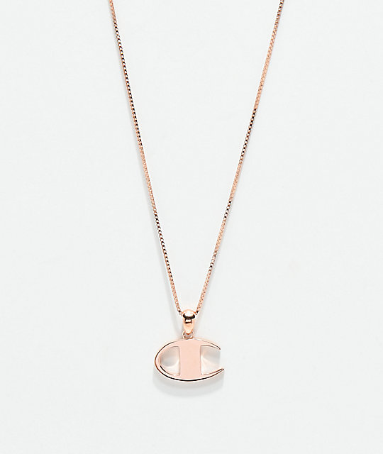 Champion Rose Gold Pendant Women's Necklace