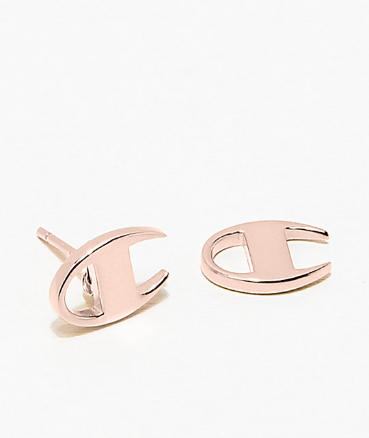 Champion Rose Gold Stud Earrings