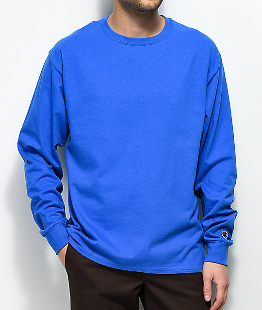 131cbb26 Champion Royal Blue Long Sleeve T-Shirt | Zumiez