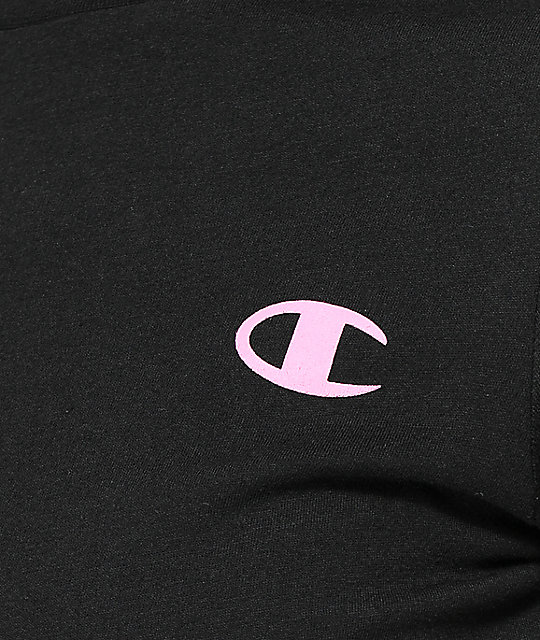 Champion Script Black & Pink T-Shirt