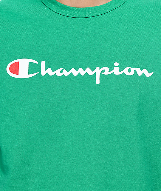 Champion Script Kelly Green T-Shirt