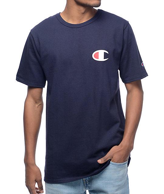 db1fd5f2 Champion Script Navy T-Shirt | Zumiez
