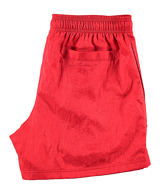 Champion Script Red Nylon Shorts