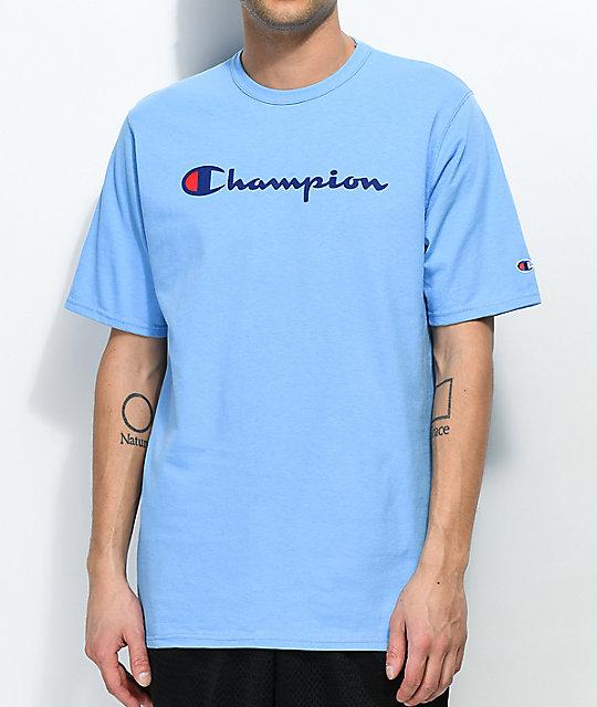 f95173d0 Champion Script Swiss Blue T-Shirt | Zumiez