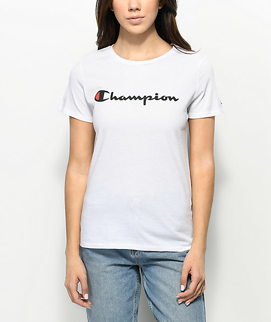 Champion Script White T-Shirt