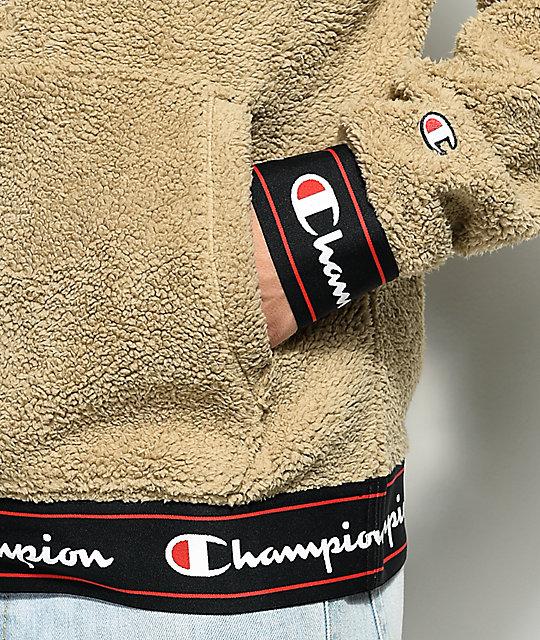 premium selection eec51 f8fac ... Champion Sherpa Khaki Hoodie ...