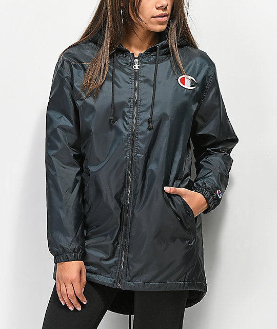 Champion Sherpa Lined Black Elongated Jacket