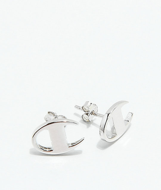 Champion Silver Stud Earrings