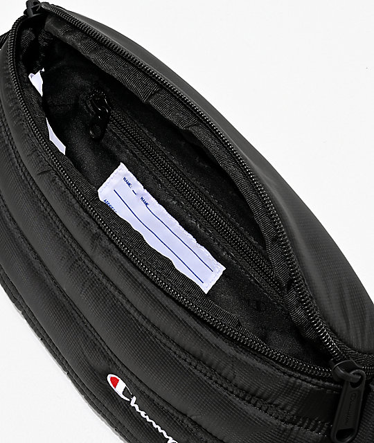 Champion Stadium Puffer Black Fanny Pack