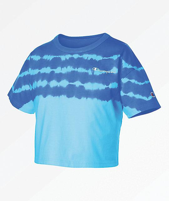 5b814ff8 Champion Streak Dye Active Blue Crop T-Shirt   Zumiez.ca