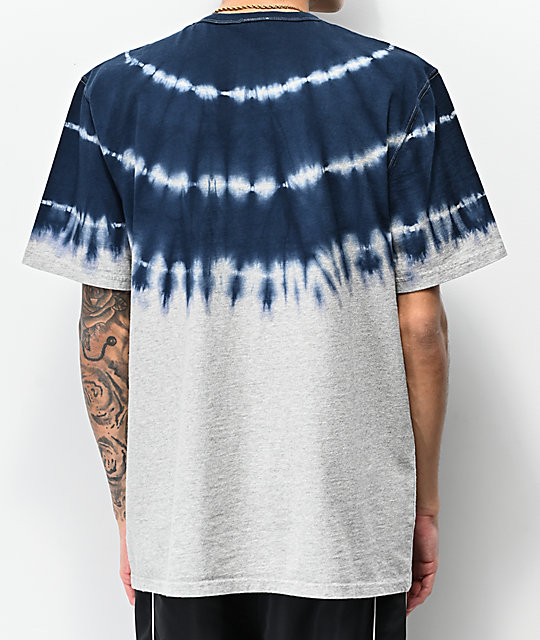 Champion Streak Dye Grey & Navy T-Shirt