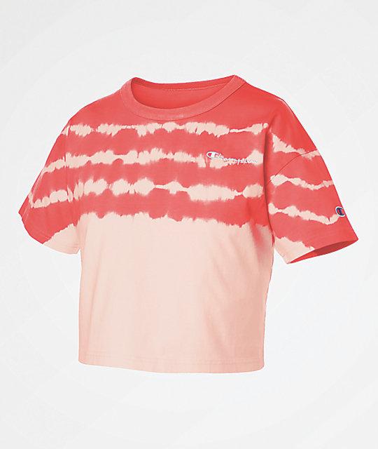 6021a01d Champion Streak Dye Groovy Papaya Crop T-Shirt   Zumiez.ca
