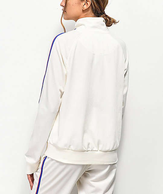 Champion Striped White Track Jacket