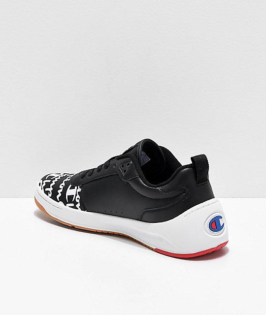 8a2a0284b ... Champion Super Court Low Print Black Shoes ...