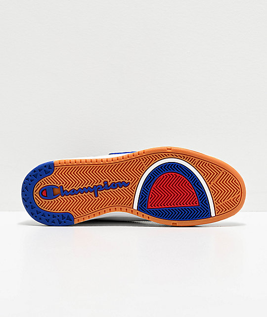 Champion Super Court zapatos de cuero blanco