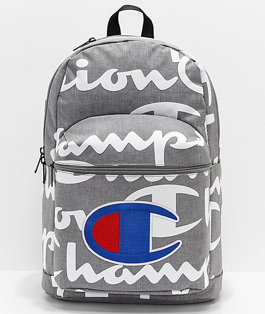 Champion Supercize 2.0 Grey & White Backpack
