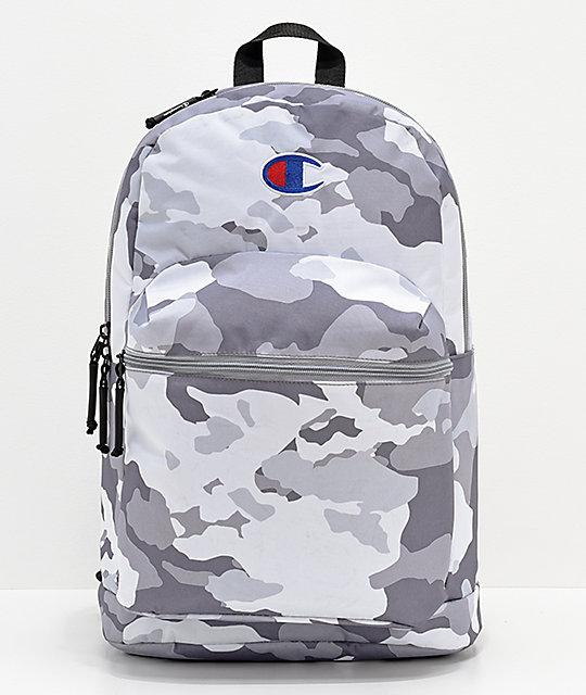 9977f825da23 Champion Supercize Grey Camo Backpack
