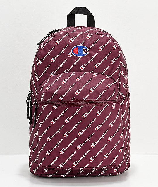 Champion Supercize Logo Script Maroon Backpack   Zumiez 635c409025