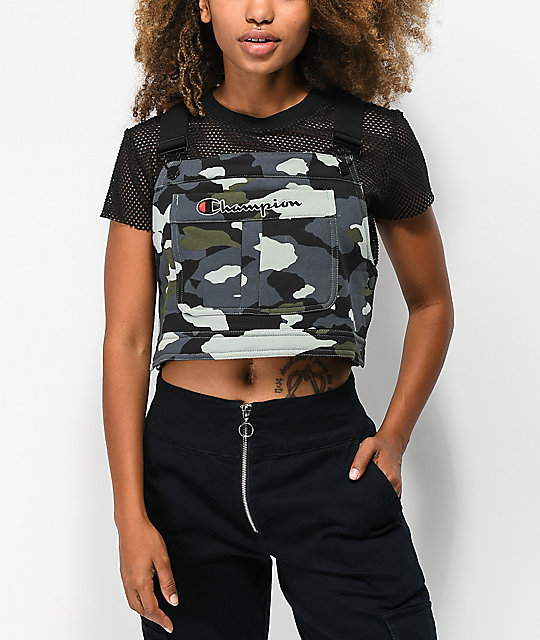 Champion Superfleece Camo Crop Overall Bib Top