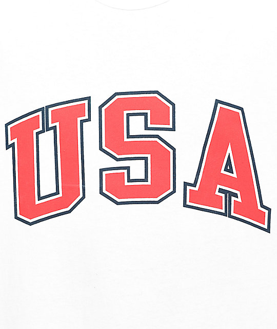 6f24fc70c Champion USA Arch White T-Shirt | Zumiez