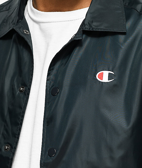 Champion USA Black Coaches Jacket