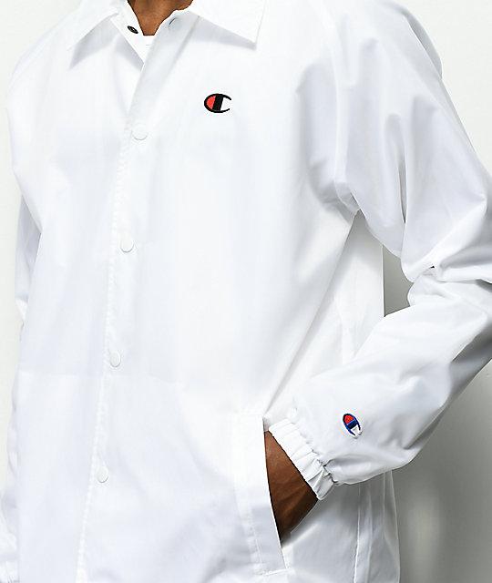 07a43cff72a ... Champion USA White Coaches Jacket ...