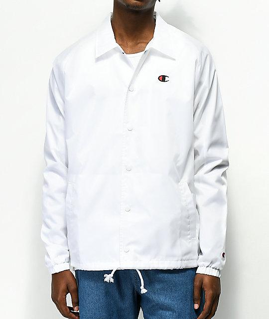 cc4456413fa Champion USA White Coaches Jacket