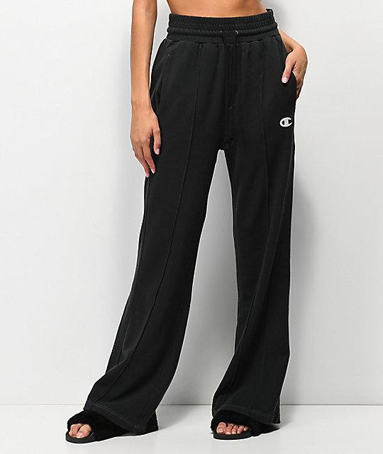 ba7a96c2dbb3 Champion Vintage Black Wide Leg Sweatpants