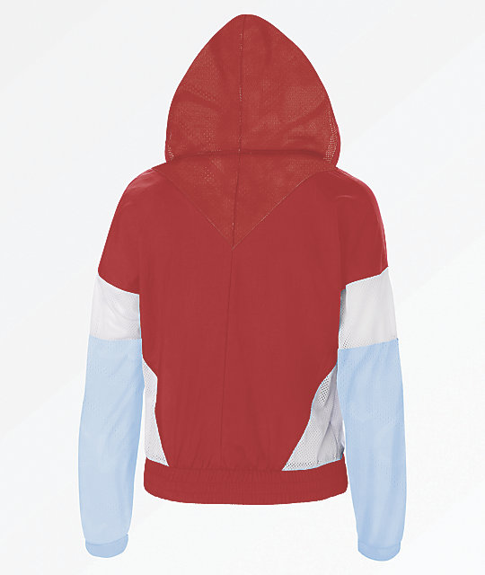 Champion Warm Up Red Anorak Jacket