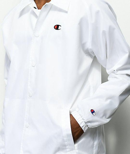 Champion West White Coaches Jacket