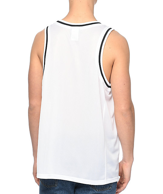 Champion White Basketball Jersey Tank Top