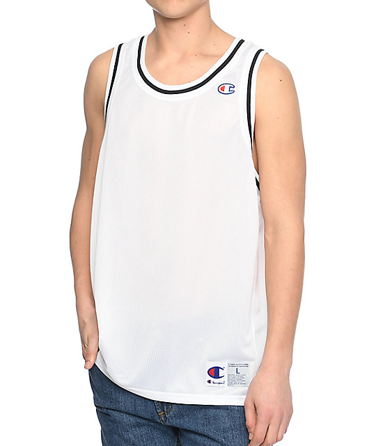 4f2929fe5825 Champion White Basketball Jersey Tank Top
